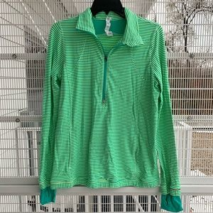Lululemon Forthright 1/2 Zip Bali Breeze Pullover